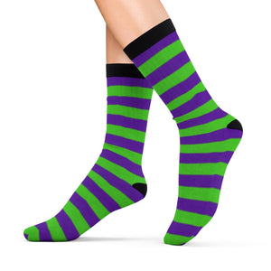 Socks with violet n' green stripes - summerinstates