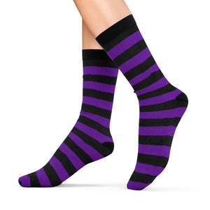 Socks with violet n' black stripes - summerinstates