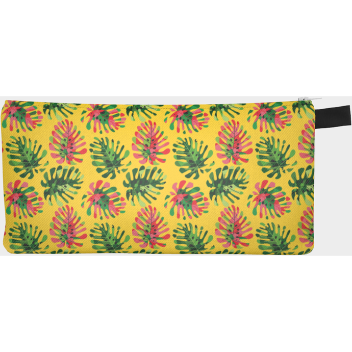 Tropical summer leaves pencil case - summerinstates