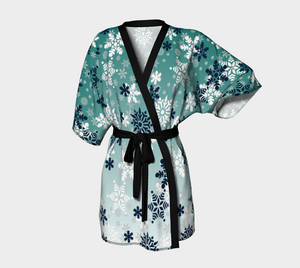 It's snowing snowflakes winter snow Kimono robe