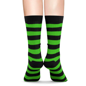 Socks with black n' green stripes - summerinstates