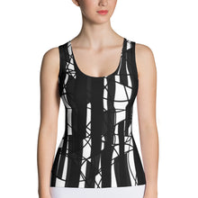 Wired Black n' White Tank Top - summerinstates