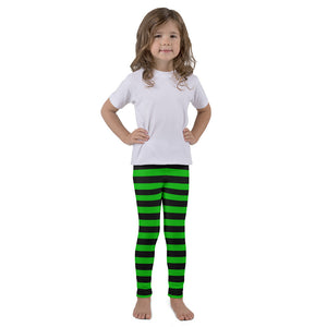 Kid's leggings with black n' green stripes - summerinstates