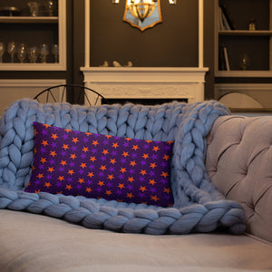 Violet throw pillow with stars