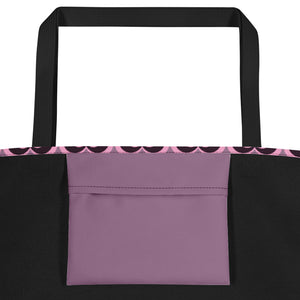 Valentine's day pastel hearts Beach Bag