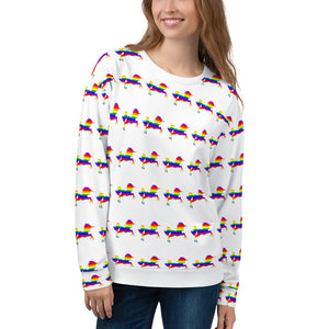 LGBT Pride Rainbow flag colors Unicorn Unisex Sweatshirt