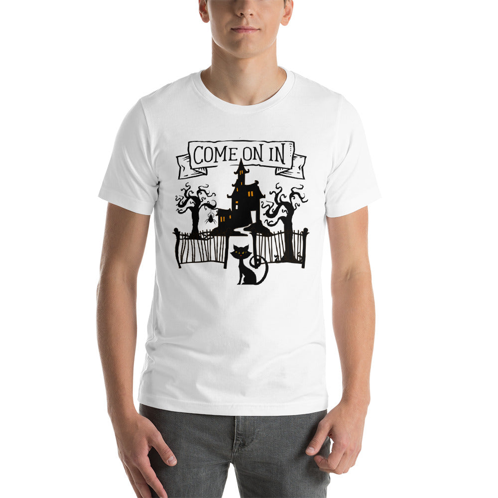 Come on in Haunted Witch house Halloween T-Shirt Unisex - summerinstates