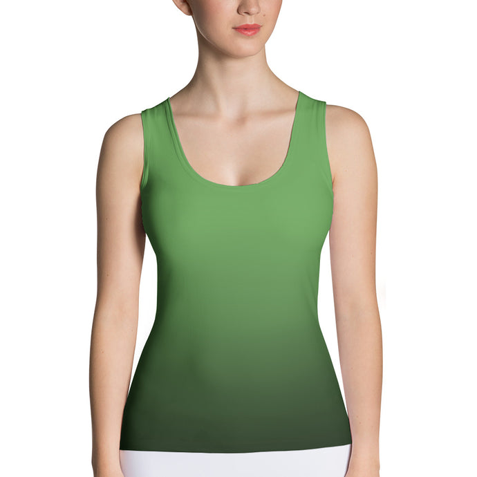 Green ombre Tank Top - summerinstates