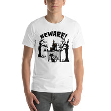 Beware Haunted Witch house Halloween T-Shirt Unisex - summerinstates