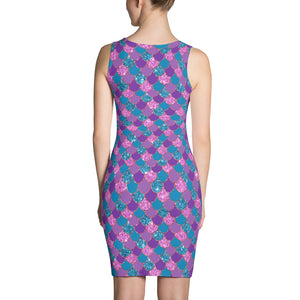 Colorful mermaid scale Dress - summerinstates
