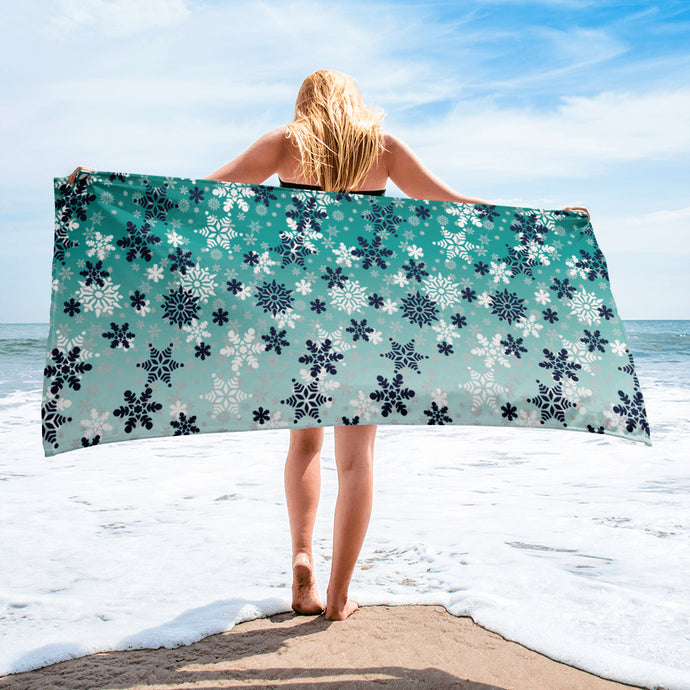 It's snowing snowflakes winter Towel