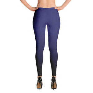 Navy blue ombre Fall Leggings - summerinstates