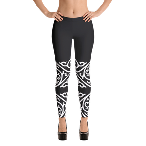 White lace styled Black Leggings - summerinstates