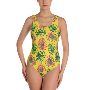 Tropical summer leaves Swimsuit - summerinstates