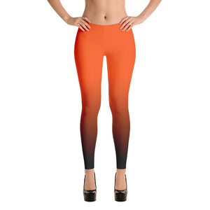 Orange Ombre Fall Leggings - summerinstates