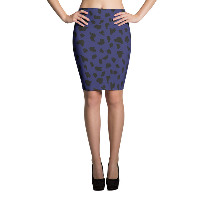 Wild Navy Blue Pencil Skirt - summerinstates