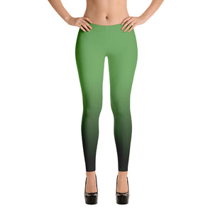 Green ombre Fall Leggings
