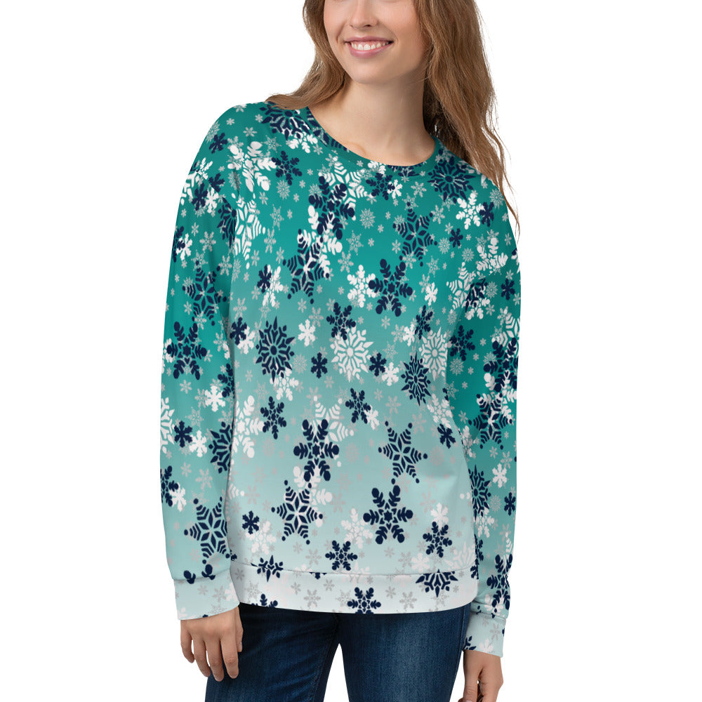 It's snowing snowflakes winter snow Sweatshirt Sweatshirt
