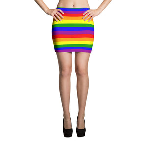 Rainbow Mini Skirt - summerinstates