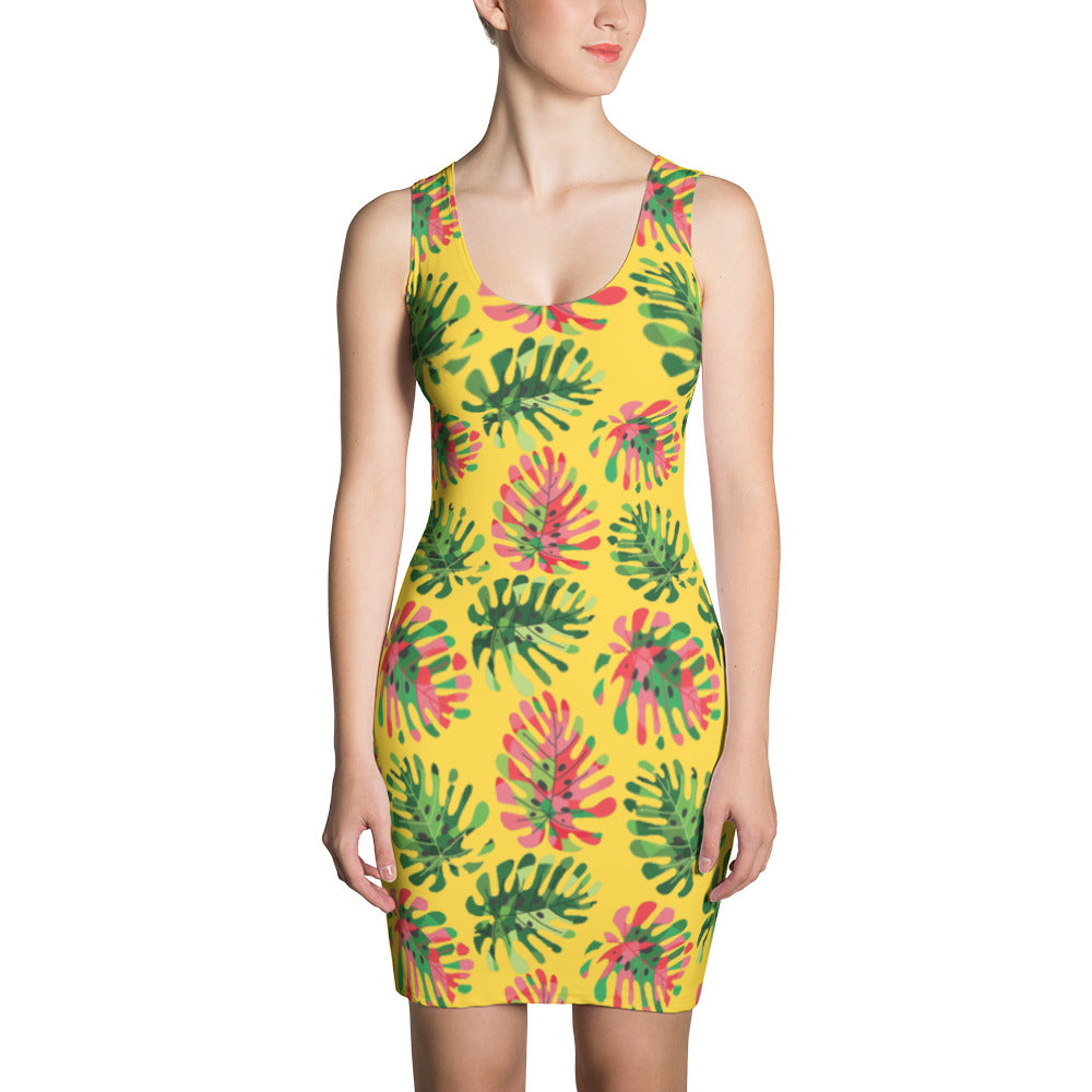 Women's Tropical summer Dress - summerinstates