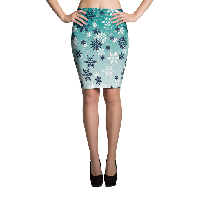 It's snowing snowflakes winter snow Pencil Skirt