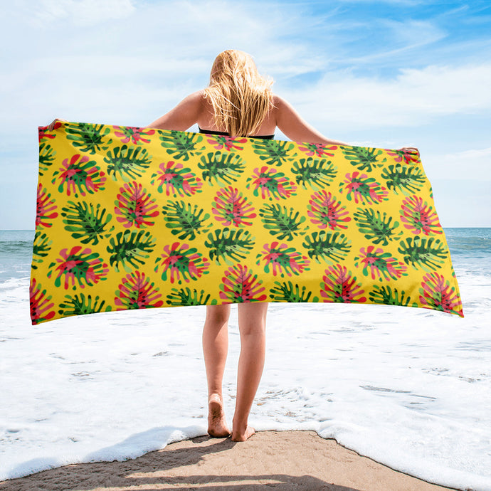 Tropical summer leaves Towel - summerinstates