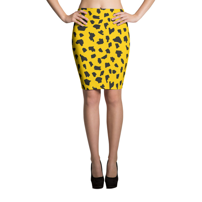 Wild Yellow Pencil Skirt - summerinstates