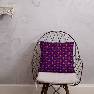 Violet throw pillow with stars - summerinstates