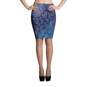 Blue Magic Pencil Skirt - summerinstates