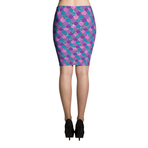 Colorful mermaid scale Pencil Skirt - summerinstates