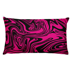 Black and pink marble throw pillow - summerinstates