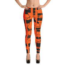 Wired Orange Leggings - summerinstates