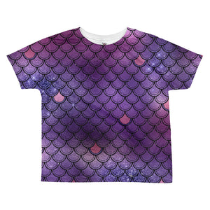 Violet mermaid scales T-shirt - summerinstates