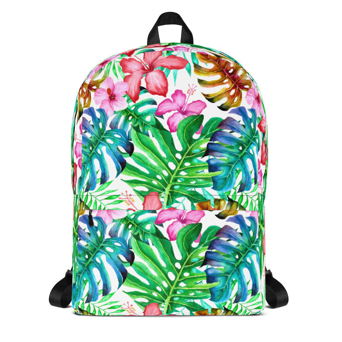 Tropical leaves Backpack - summerinstates