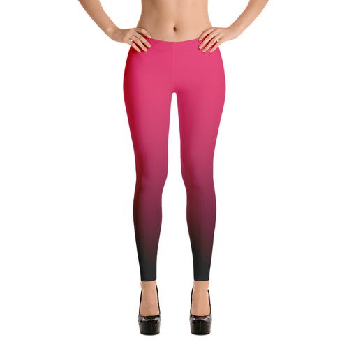 Pink ombre Fall Leggings