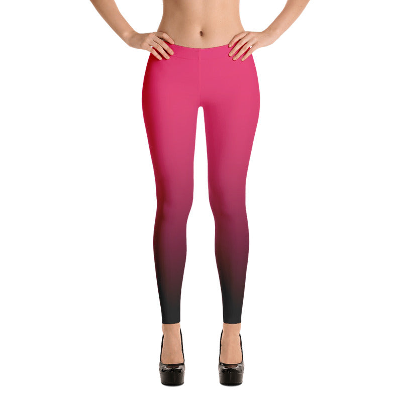 Pink ombre Fall Leggings - summerinstates