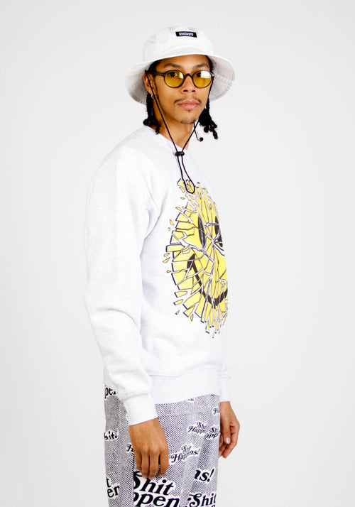 Glass Smiley Crewneck