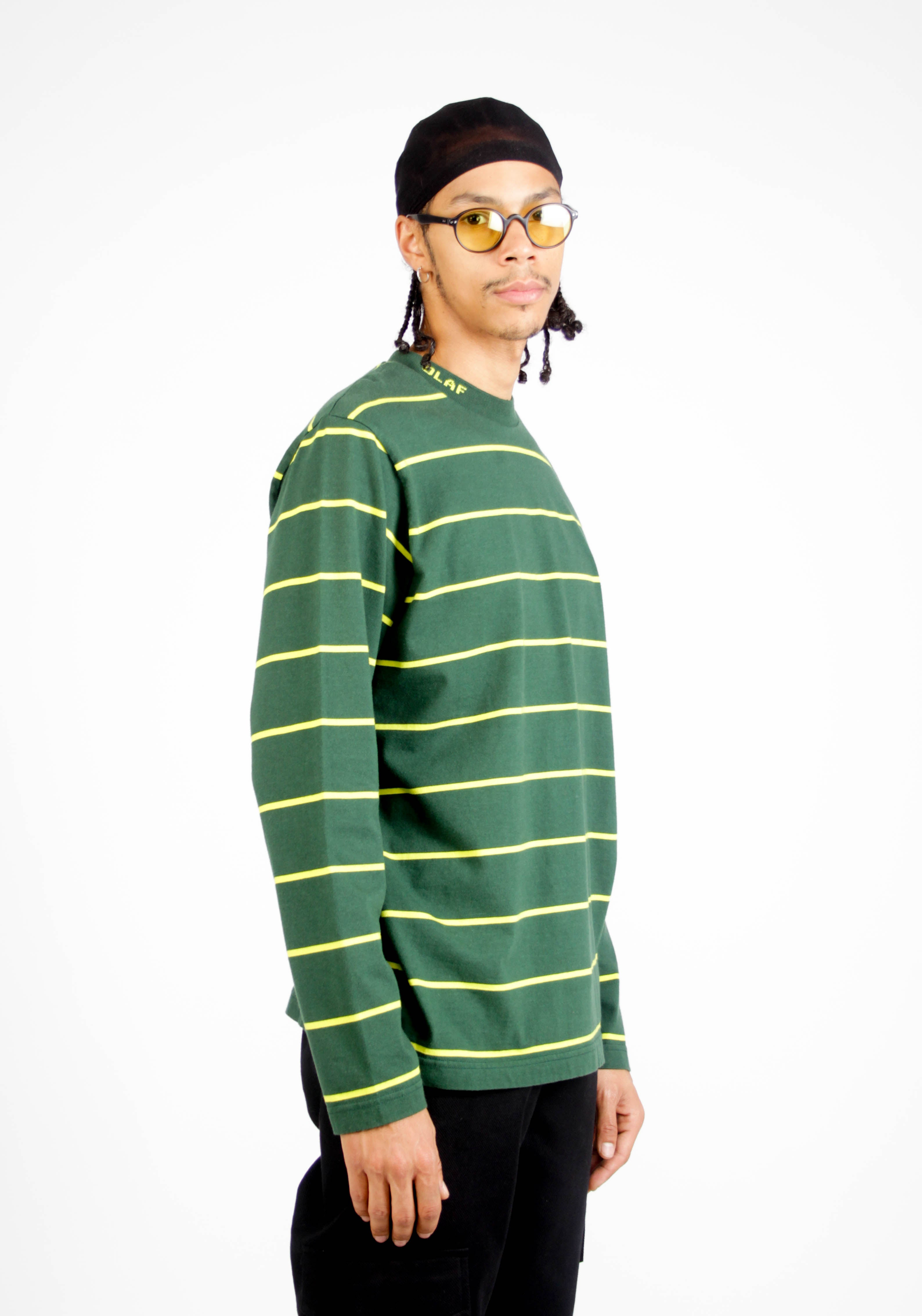 Stripes Branded Rib LS