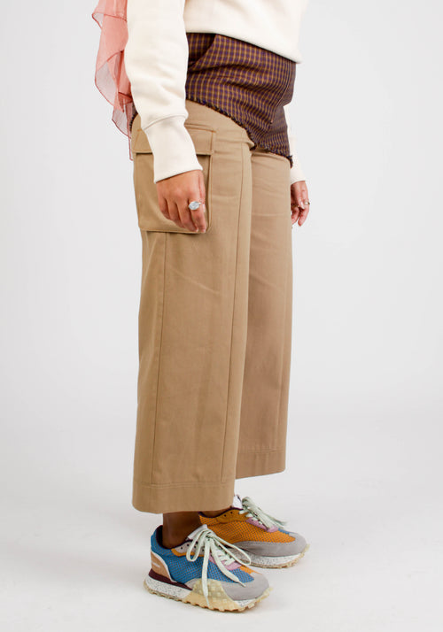 JADE CROPPED COLOR BLOCKING CARGO PANTS