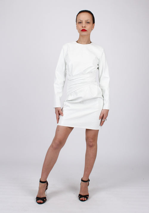Faux leather Croco embossed dress