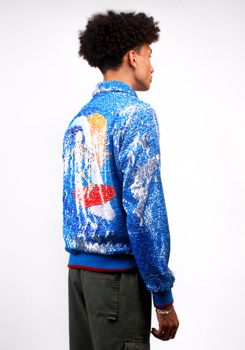 Mouse Skeleton Surfer Sequin Jacket