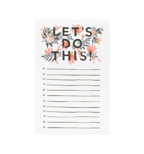 Rifle Paper Co. Let's Do This Tear-Off Notepad - Bon Vivant Gift Boxes | Austin, Texas