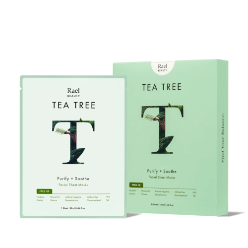 Rael Beauty - Tea Tree Sheet Mask - Bon Vivant Gift Boxes
