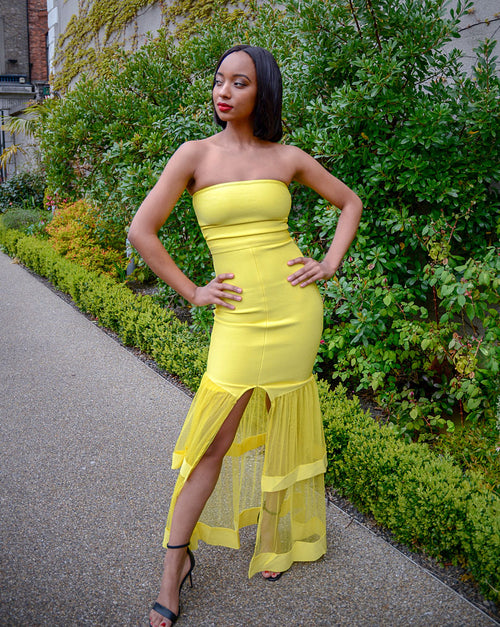 Vicki Maxi Dress | Yellow