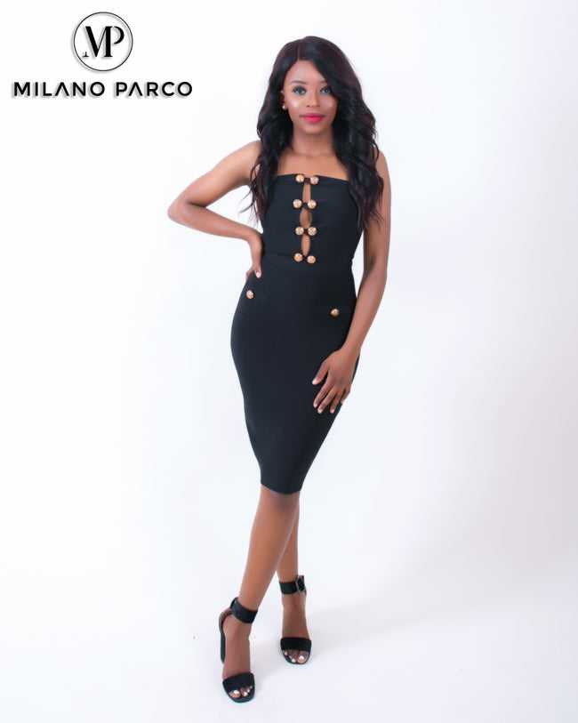 Adela Bandage Dress | Black