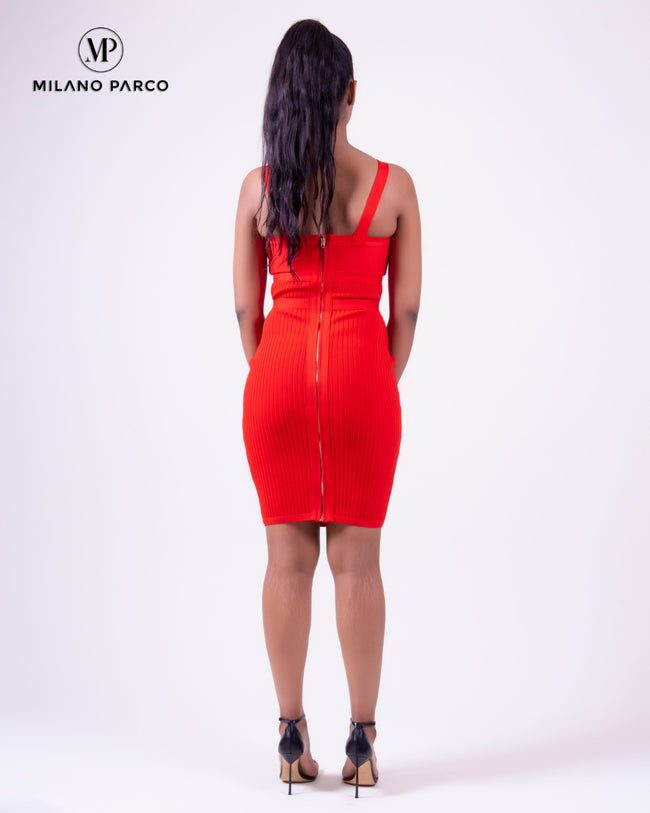 Buckled Dress | Red
