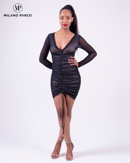 Cut Out Bodycon Dress | Black