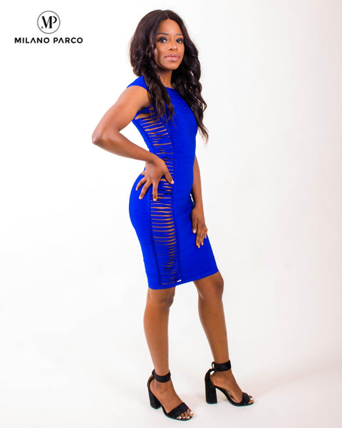 Capsy Bandage Dress | Blue