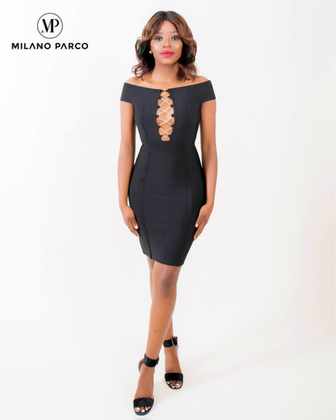 Ms Independent Bandage Dress | Black