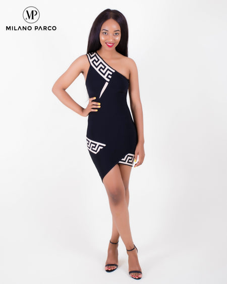 Star Struck Bandage Dress | Black